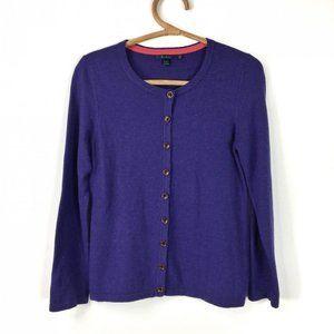 Boden Purple button down cardigan US size 8